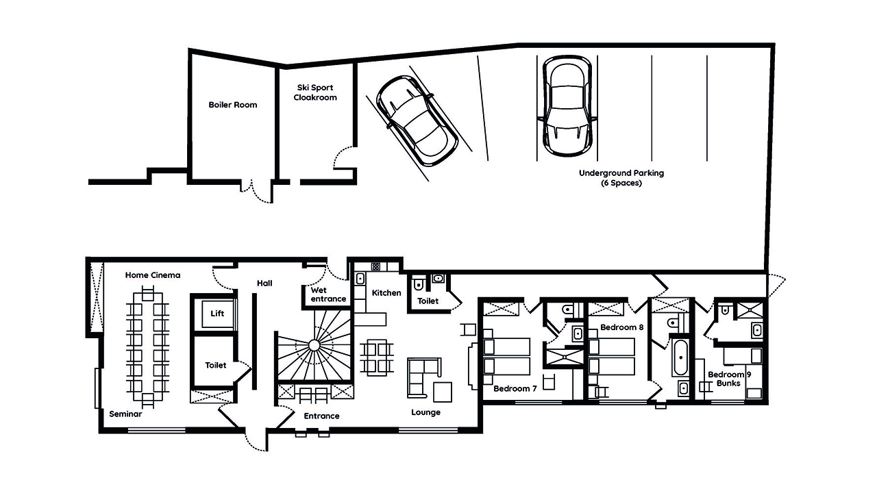 Le Chalet Mont Blanc Executive Suite One floor plans
