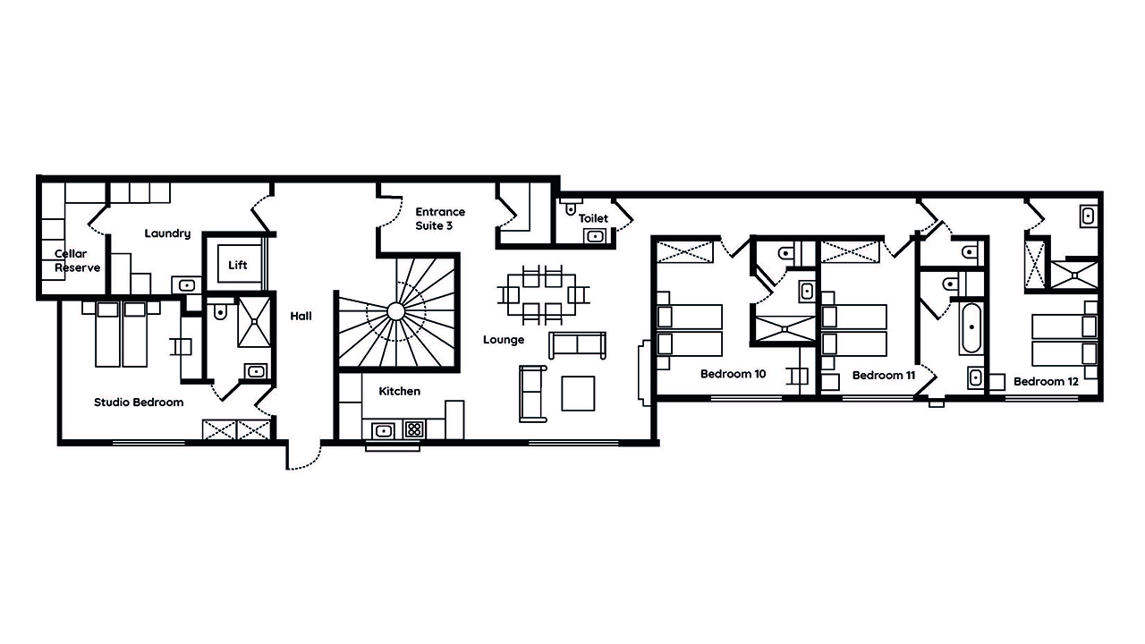 Le Chalet Mont Blanc Executive Suite Two floor plans