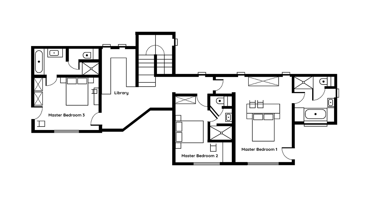 Le Chalet Mont Blanc Penthouse floor plans 2nd floor