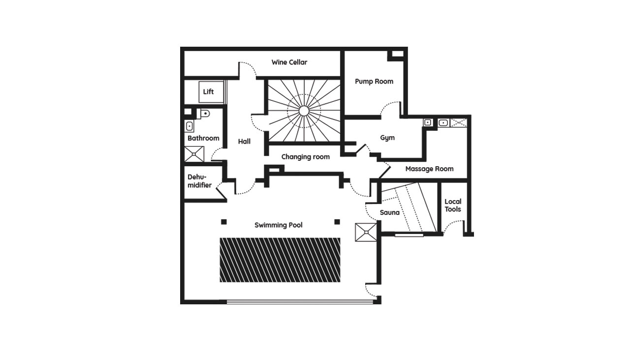 Le Chalet Mont Blanc Wellness and Spa floor plans