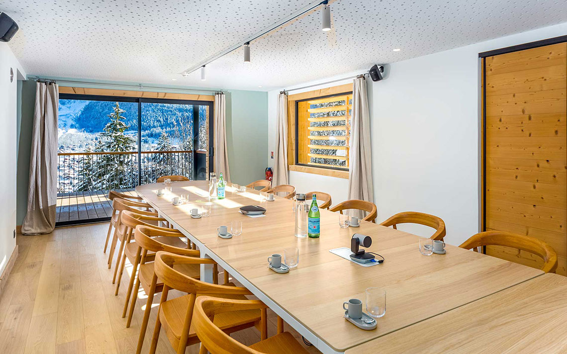 Le Chalet Mont Blanc Chamonix conference corporate room